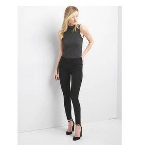 NWT Gap Mid Rise Skinny Jeans EverBlack 28S v331